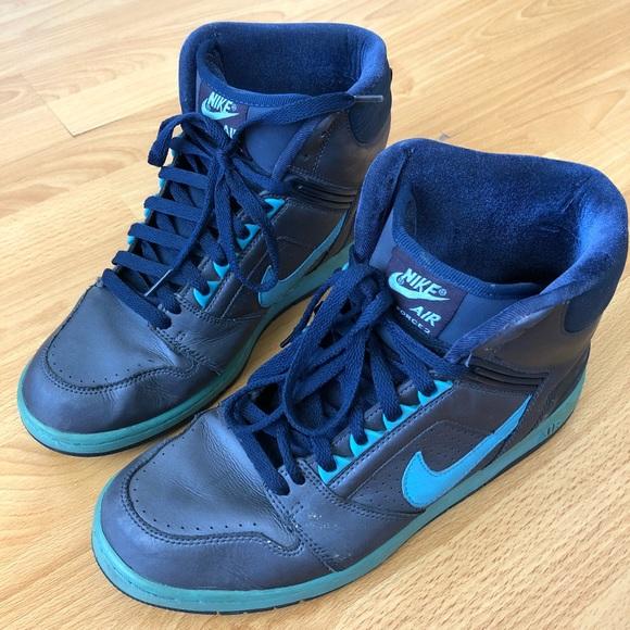 size 40 32d3d 9398d Nike - Air Force 2 High-Tops Blue. M 5a8b3e965521bef2026096a7